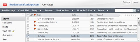 开源Mail Server & Webmail: XMail Server Lite