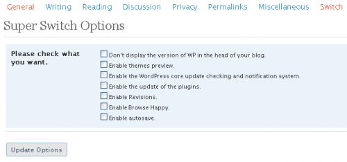 WordPress Super Switch
